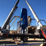 Dust Collection Services LLC Installing Donaldson Baghouse Dust Collector