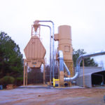 Cyclone Dust Collector on top of a Peerless Bin by Dust Collection Services LLC