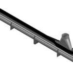 """Rendering of the 7"""" DCS Zipper Duct with Slider"""