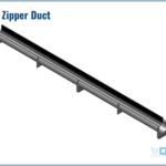 """Rendering of the 6"""" DCS Zipper Duct"""